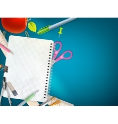 School office supplies eps 10 vector