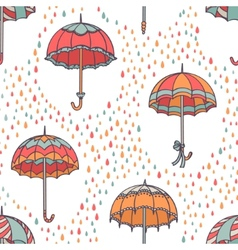 Umbrella pattern vector