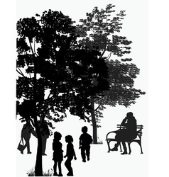 People walk in the park vector
