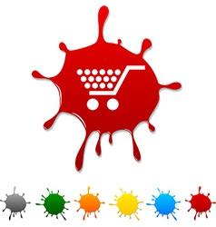Shopping blot vector