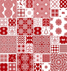 Collection of christmas backgrounds vector