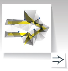 Triangulated arrow vector