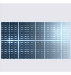 Reflection in solar panels vector