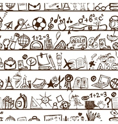 School hand drawn pattern for your design vector