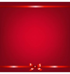 Red background with red ribbon vector