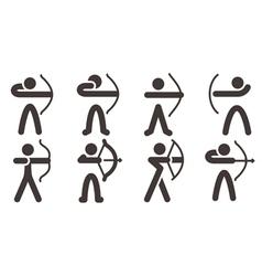 Archery icons vector