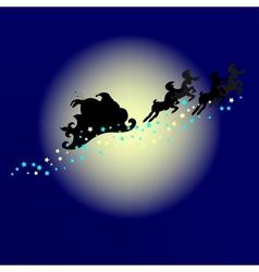 Santa silhouette vector