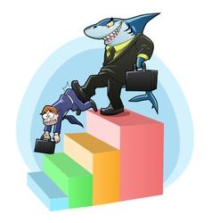 Monopoly shark vector