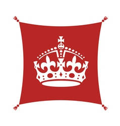 Crown on cushion vector