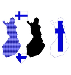 Map of finland vector
