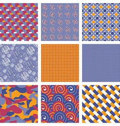 Set of geometric seamless pattern backgrounds vector