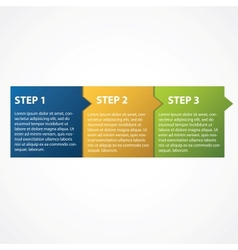 One two three - progress steps for tutorial vector