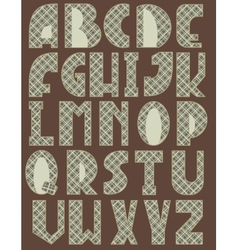 Cross english alphabet vector