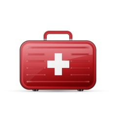 Medicine chest first aid poster vector