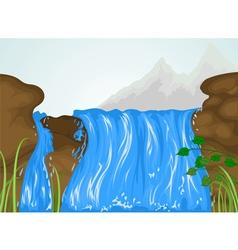 Water fall vector