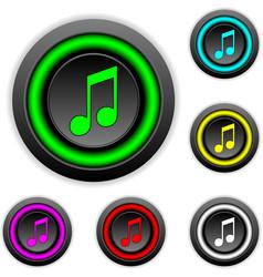 Music buttons set vector