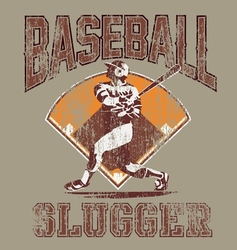 Slugger baseball vector