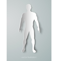 Silhouette of the human body vector