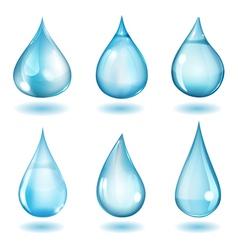 Opaque blue drops vector