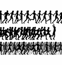 Foreground runners vector
