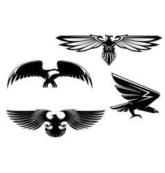 Set of heraldry eagles vector