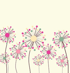 Flower background in pastel colors vector