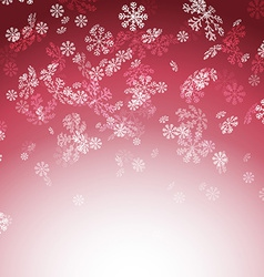 New year christmas snow red card vector