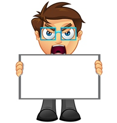 Business man blank sign 1 vector