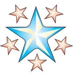 Star tattoo art vector