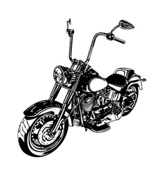 Chopper customized motorcycle vector