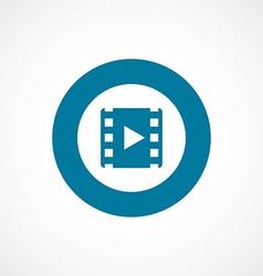 Media bold blue border circle icon vector
