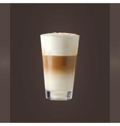 Latte glass vector