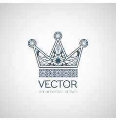 Ornamental crown vector