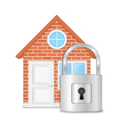 House with lock vector