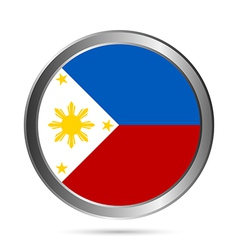 Philippines flag button vector