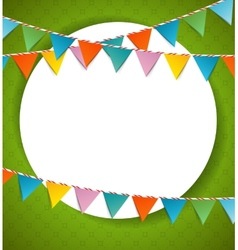Bunting party color flags vector