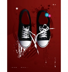 Athletic shoes vector