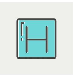 Hospital thin line icon vector