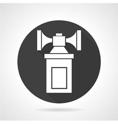 Air horn black round icon vector