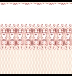 Seamless background red lace on a white background vector