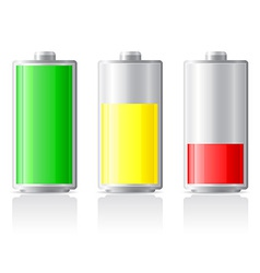Icons charge battery 01 vector
