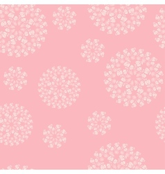 Floral pink background vector