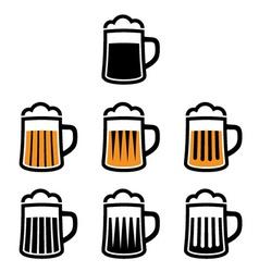 Beer mug symbols vector