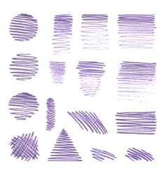 Set of various pencil strokes vector