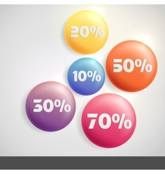 Sale buttons with discount vector