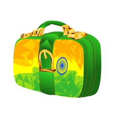 Bag with india flag vector