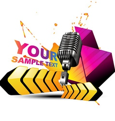 Mic colorful background vector