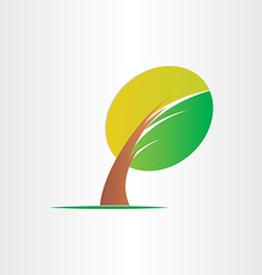 Bended tree eco icon design vector