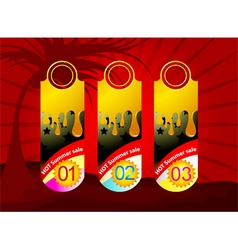 Promotion label background vector