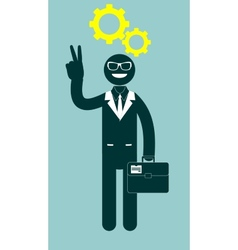 Black man with a thinking head vector